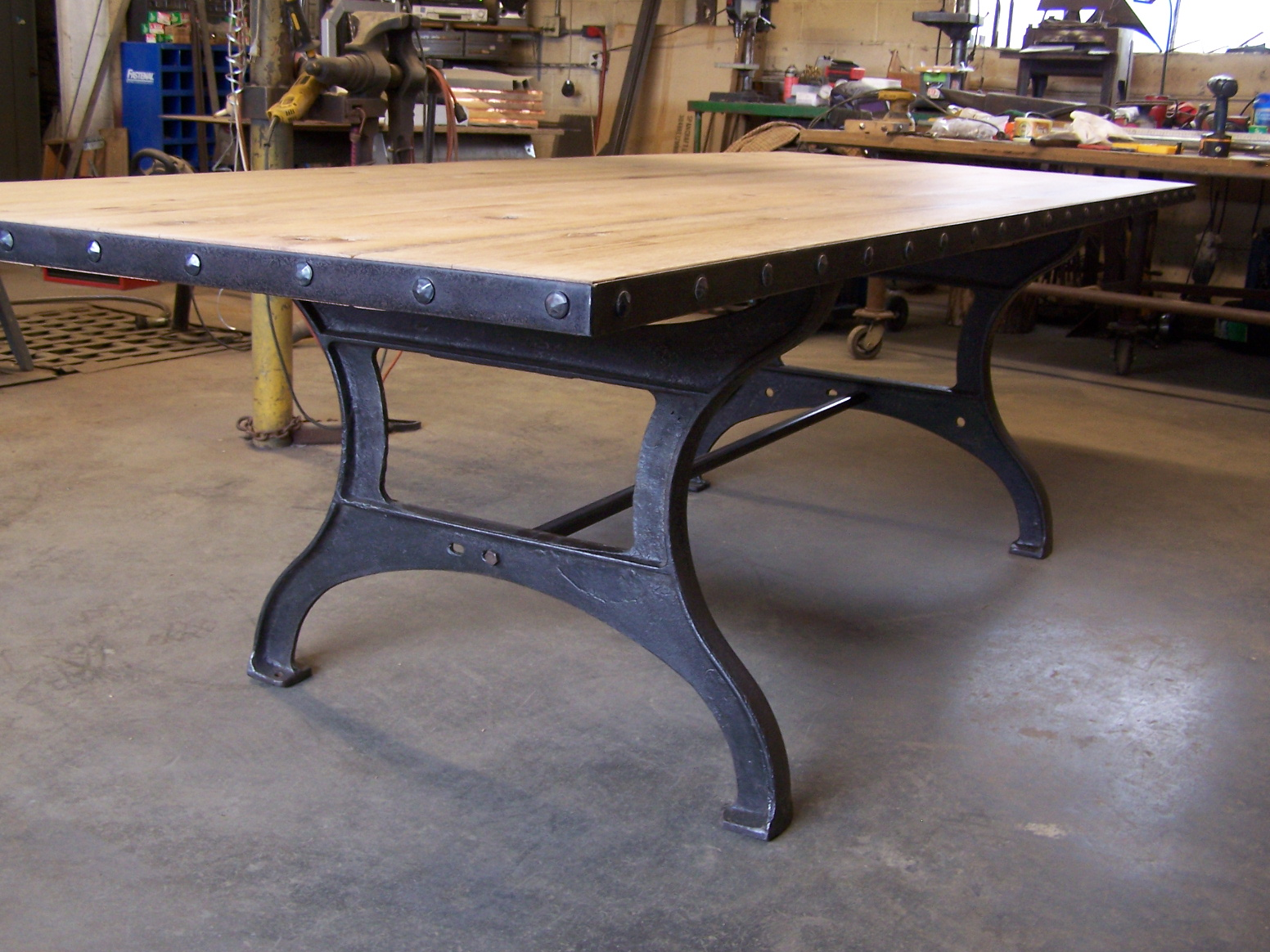 industrial dining table. Filed Under Past Products · Tagged With Reclaimed Vintage Wood, Wood Top Table Industrial Dining