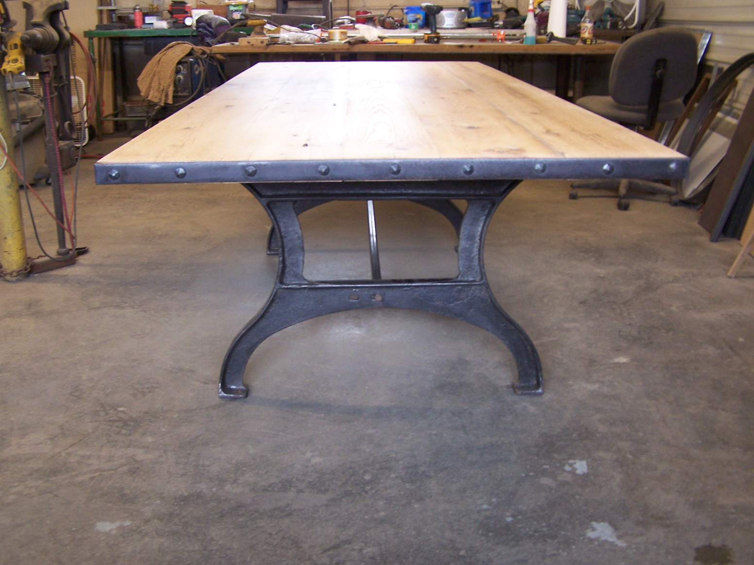 Industrial dining table - 100_8244