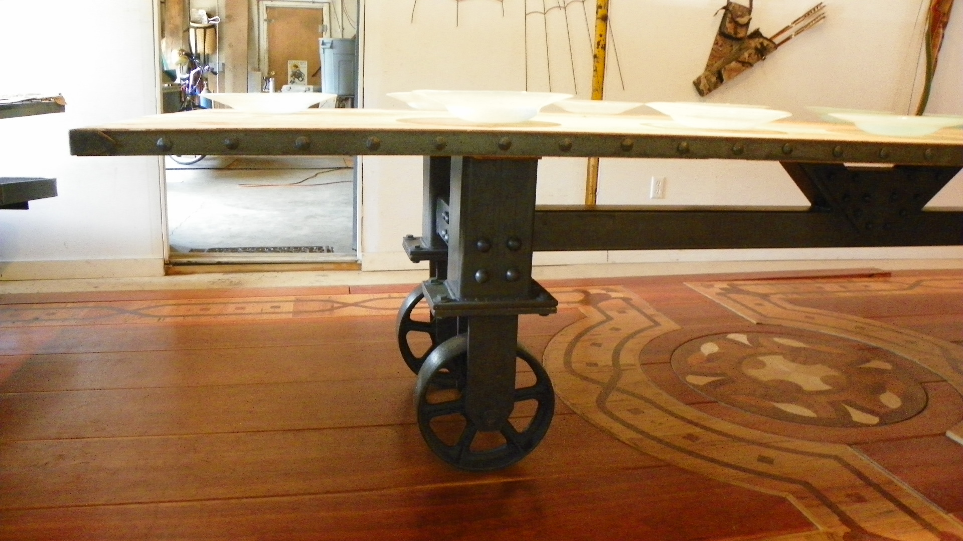 Vintage Industrial Dining Room Table. 101 1144 Industrial Dining Table  Reclaimed Vintage Oak Top