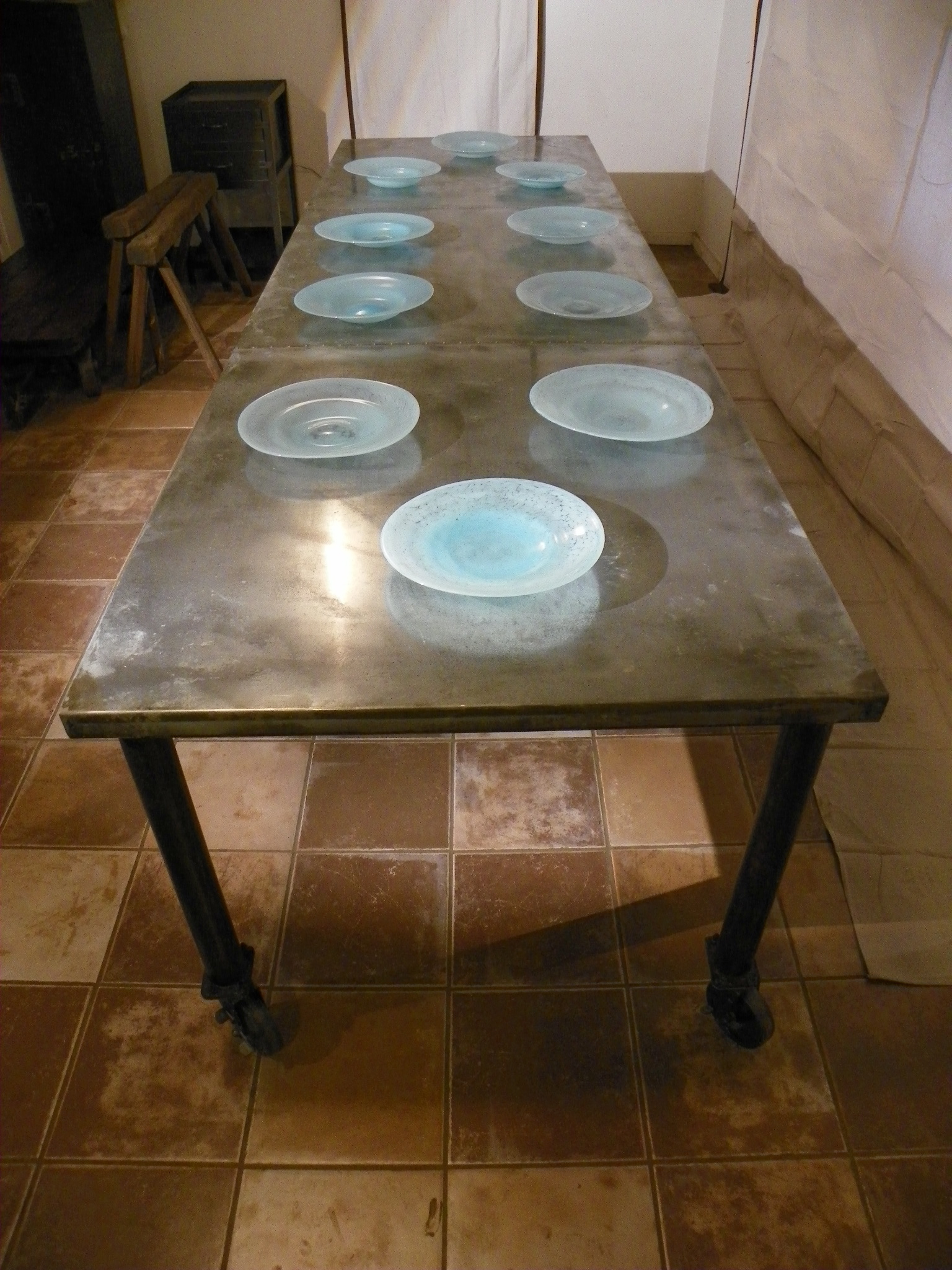 zinc top dining table Stissing Design