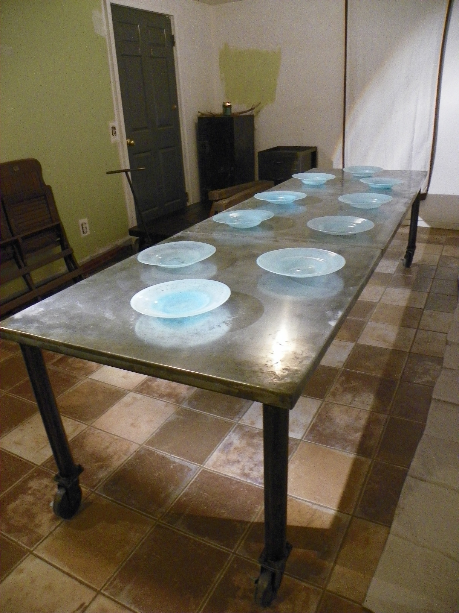Zinc Dining Table French Zinc Topped Dining Table Dining Table Ideas