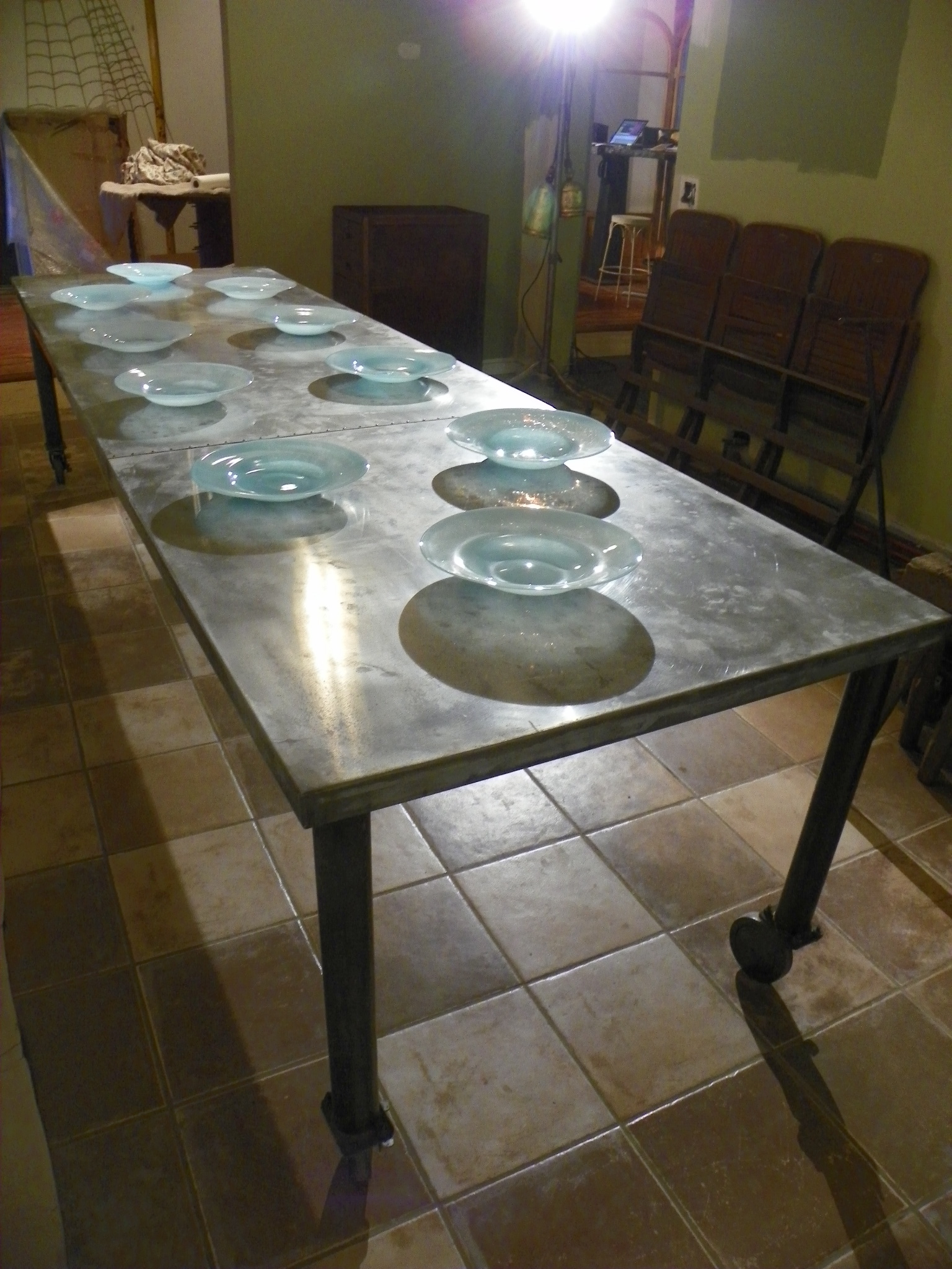 Zinc Top Dining Table Gallery Of Furniture Beauteous