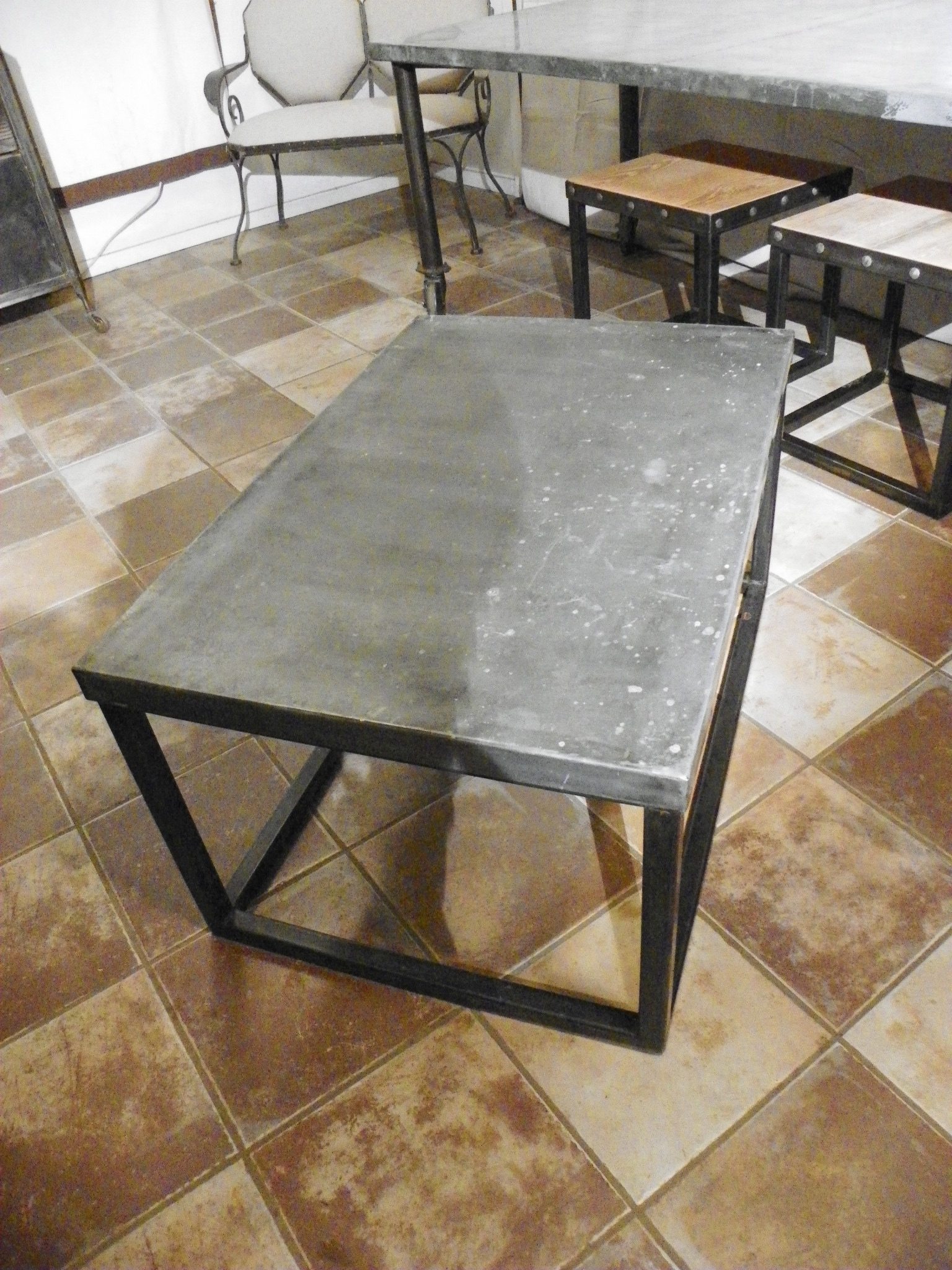 Zinc Top Coffee Table Rascalartsnyc