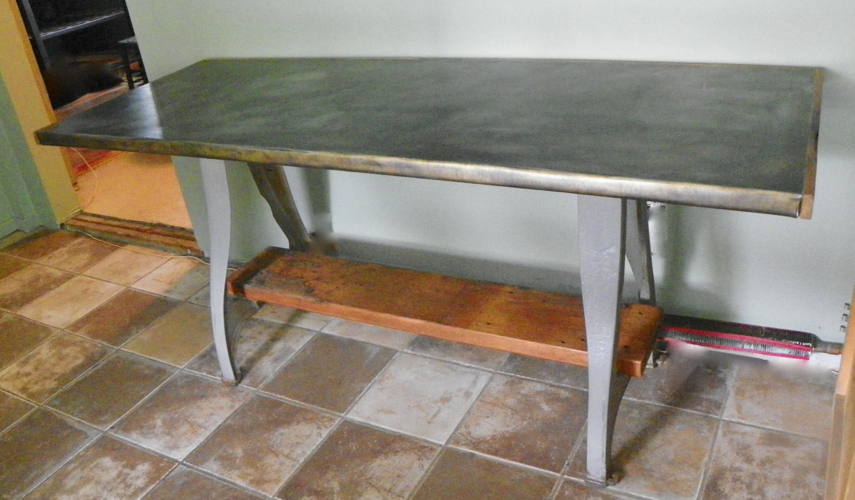 Zinc Top Dining Table Great Stissing Design